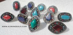 kuchi tribe by on Etsy Spicy Candy, Gemstone Rings, Trending Outfits, Bohemian, Unique Jewelry, Handmade Gifts, Turquoise, Detail, Stuff To Buy