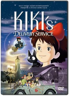 KIKI'S DELIVERY SERVICE. One of my favorite Ghibli films. A delightfully gentle little film about a young witch finding her place in the world. The animation in this movie is so amazing. Rewatched DVD 02/08/15 #ghibli #anime