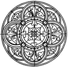 circular medival embroidery pattern - Google Search
