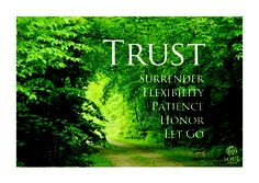 How do you build trust in yourself. How do you express that trust in you?
