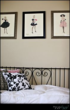 Little girl's bedroom in vintage barbie ~ I am so doing this!!finally found something to do with the vintage Barbie calendar!