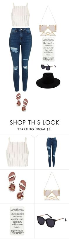 """""""my outfit"""" by mianicolec7 ❤ liked on Polyvore featuring Topshop, Tory Burch, River Island and rag & bone"""