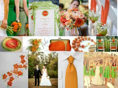 Hunter Green and burnt orange wedding   This is Suave and Chic :): Colour Code: Part 1