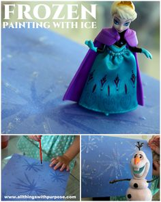 Painting with a saltwater solution makes it look like you are painting with ice as it dries!