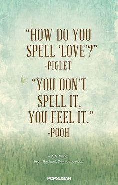 Inspirational Quotes: Winnie the Pooh understands love