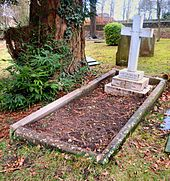 The modest grave of Lewis CARROLL at the Mount Cemetery