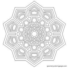 """Tesseract"" Geometrycoloringpages.com"