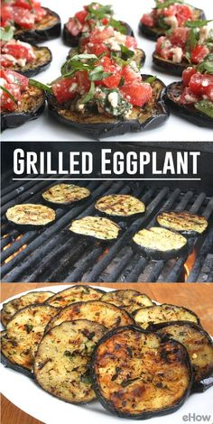 The flavor of the smokey, grilled eggplant pairs perfectly with a topping of fresh caprese salsa, and it all makes for a delicious meal. Throw on your flip flops, grab your tongs and get working on an unexpected dish that puts predictability up in smoke. Grilling Recipes, Vegetable Recipes, Vegetarian Recipes, Cooking Recipes, Healthy Recipes, Vegetarian Grilling, Healthy Grilling, Barbecue Recipes, Barbecue Sauce