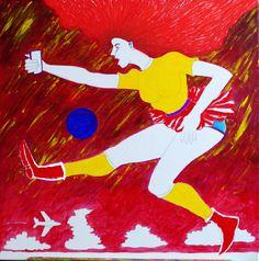 alice in wonderland II  acryl op doek 60 x 60 cm www.atelier-wedderveer.nl  tussenstadium painting
