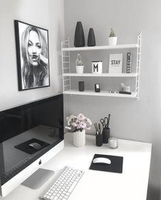 70 Scandinavian Home Office Desk Design Ideas And Remodel - Mesa Home Office, Home Office Desks, Office Workspace, Office Spaces, Home Office Organization, Office Decor, Office Ideas, Organization Ideas, Office Inspo