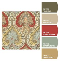 Paint colors from Chip It! by Sherwin-Williams Room Colors, Wall Colors, House Colors, Paint Colors For Home, Paint Colours, Yarn Color Combinations, Paint Color Schemes, Sherwin William Paint, Paint Swatches