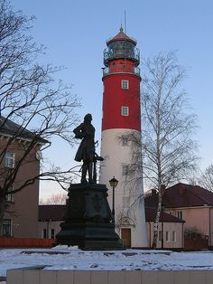 Peter The Great and Lighthouse by themactep, via Flickr ~ Baltiysk Range Rear Light, Russia