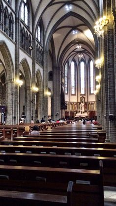 Myeongdong Catholic Church  Seoul South Korea