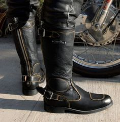 Gasolina Classic Boots | The perfect compliment to your vintage bike or modern ride.