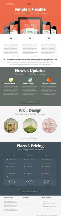 Nimble WordPress Theme - Elegant Themes