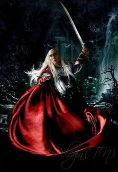 Thranduil #fanart cloak and sword