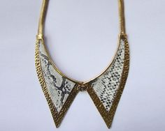 Want this! Leather Collar Necklace by davidoffaccessories on Etsy, $19.90