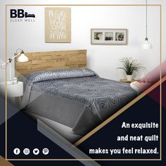 An exquisite and neat quilt makes you feel relaxed.  #bedding #bedroomstills #bedtimestories #bedtimebenns #luxuryhomes #luxurylifestyle #blanket  #WednesdayMotivation #WednesdayThoughts