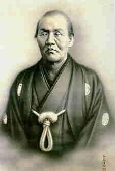 """清水次郎長 Shimizu Jirocho (1820-1893) was the legendary """"Robin Hood"""" figure of Japan, one of the undefeated swordsmen in Japan whose reputation eventually earned him the highest certificate of ability from the greatest swordsmen of the modern (Meiji) era, Yamaoka Tesshu. The Tesshu line was to have an enormous influence on Tohei Sensei through misogi training at the Ichikukai, and Ki Society students will recognize the meaning of a story about Jirocho's swordsmanship."""