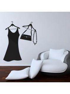 Muursticker Mode Accessoires voor in de slaapkamer