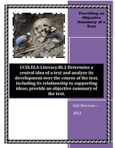 The following lesson plan contains the following: Lesson Plan, Warm-up, Vocabulary Activity, Anchor Chart Sample, Reading Passages, Activities, Questions, Exit Slip