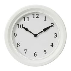 IKEA - SÖNDRUM, Wanduhr, Der klassisch-neutrale Rahmen der Uhr wirkt in jedem Raum dekorativ.Exakte Zeitangabe durch Quarzuhrwerk.Mit SÖNDRUM Wanduhr lässt sich zusammen mit SÖNDRUM Rahmen eine schöne Wandcollage gestalten, da sie im Aussehen aufeinander abgestimmt sind.