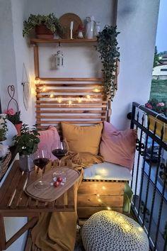 Small Balcony Design, Small Balcony Decor, Balcony Ideas, Patio Ideas, Outdoor Balcony, Outdoor Patios, Small Patio Spaces, Condo Balcony, Modern Balcony