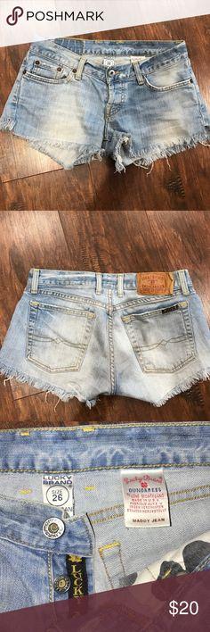 Lucky Brand Daisy Duke cut-offs Cut-off denim short shorts Lucky Brand Shorts Jean Shorts