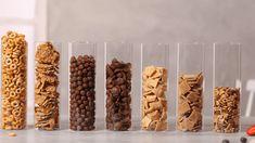 Empfehlungen für Cerealien-Portionsgrößen   Nestlé Cerealien Granola Cereal, Serving Size, Breakfast, Food, Cups, Whole Wheat Flour, Fresh Fruit, Eat Clean Breakfast, Food Portions