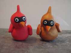 Cardinal Cake Toppers gives me a great idea for a cardinal cake someday!