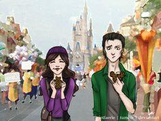 hiddlesauce:  Loki x Darcy - Disneyland (2/5)