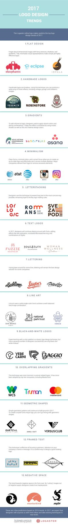 Logo Design Trends for 2017: Is Your Logo Up to Date? [Infographic] - @redwebdesign