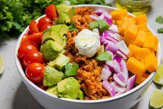 Black Bean & Green Pepper Protein Quesadillas - Pure Farmland Protein Recipes, Protein Foods, Mashed Potato Cakes, Breakfast Bake, Plant Based Protein, Quesadillas, Stuffed Green Peppers, Cheddar Cheese, Cilantro