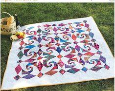 SALE Snails Trail Al Fresco Quilt Pattern - Cut Loose Press CLPJAW068 - Creative Grids 2 Peaks in 1 - Square on Square
