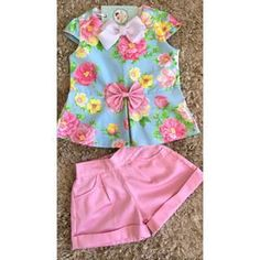 Como hacer un conjunto de niña moderno 2019 paso a paso tutorial - Tutoriales de costura paso a paso Baby Girl Fashion, Toddler Fashion, Kids Fashion, Sewing For Kids, Baby Sewing, Short Niña, Baby Dress Design, Boys And Girls Clothes, Girl Dress Patterns