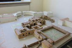 A model showing the entire site.