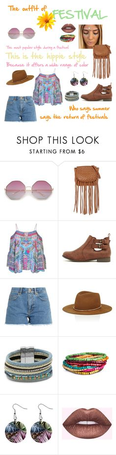 """THE OUTFIT OF: festival"" by thefashionadvice ❤ liked on Polyvore featuring Joelle Hawkens by Treesje, Camilla, M.i.h Jeans, Janessa Leone and Design Lab"