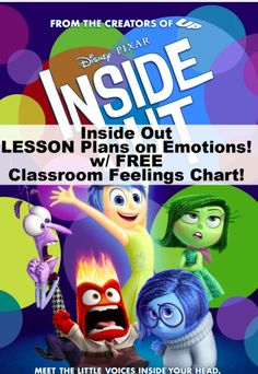 Inside Out emotions lesson plans #insideout