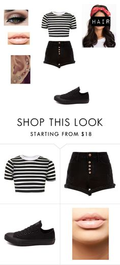 """Untitled #411"" by pufferfishgal on Polyvore featuring Topshop, River Island, Converse and MDMflow"