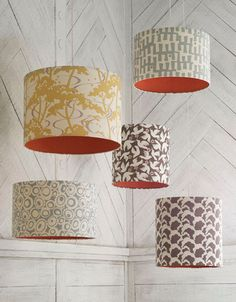 Hand printed fabric lamp shade by raptureandwright on Etsy, £199.00