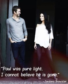 Paul Walker and Jordana Brewster