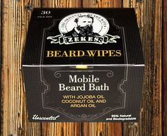 Unscented - Zekes Beard Wipes - 30 Pack Box