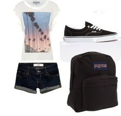 First day of school outfit for casual type of girls