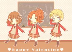 Nyotalia - Japan, Italy, and Germany : Gakuen Valentine !