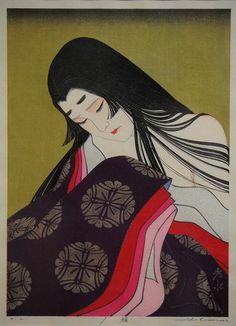 "Artist completes his life project--Genji's world in 12 ukiyo-e prints - ""Yugao"" (Provided by Shusui Taki)"