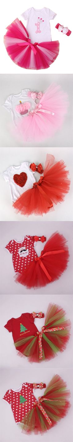 Fashion Baby Girl Clothes Infant Bebe Clothing Set Christmas Bodysuit Tutu Skirts with Headband Original Coveralls Body Clothing