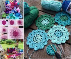 Crochet Japanese Flowers Free Pattern