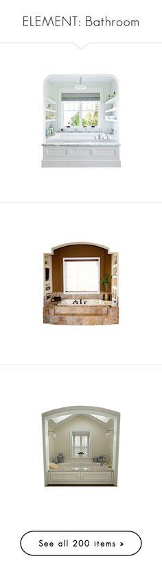 """""""ELEMENT: Bathroom"""" by lilmsgunshyne ❤ liked on Polyvore featuring home, home improvement, storage & organization, bathroom, furniture, bathroom hardware, bathroom decor, bathtub, bath and bad"""