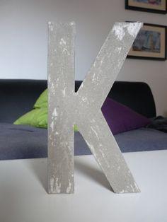 Beton Buchstabe K / concret letter k