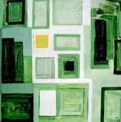 Green City -48x48 Large Acrylic Contemporary Painting by Abstract Artist Kami Kinnnison $2000